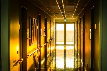 夕陽のキャンパス